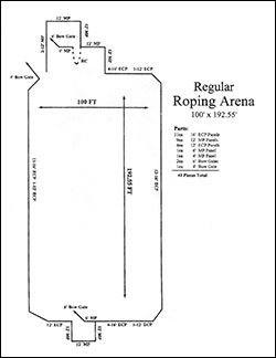 Roping Arena Layout